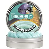 "Crazy Aaron's Thinking Putty 4"" Tin - Cosmic Infinite Nebula - Multi-Color Sparkle Glow Putty, Soft Texture - Never Dries Out"