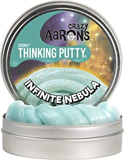 "product image for Crazy Aaron's Thinking Putty 4"" Tin - Cosmic Infinite Nebula - Multi-Color Sparkle Glow Putty, Soft Texture - Never Dries Out"