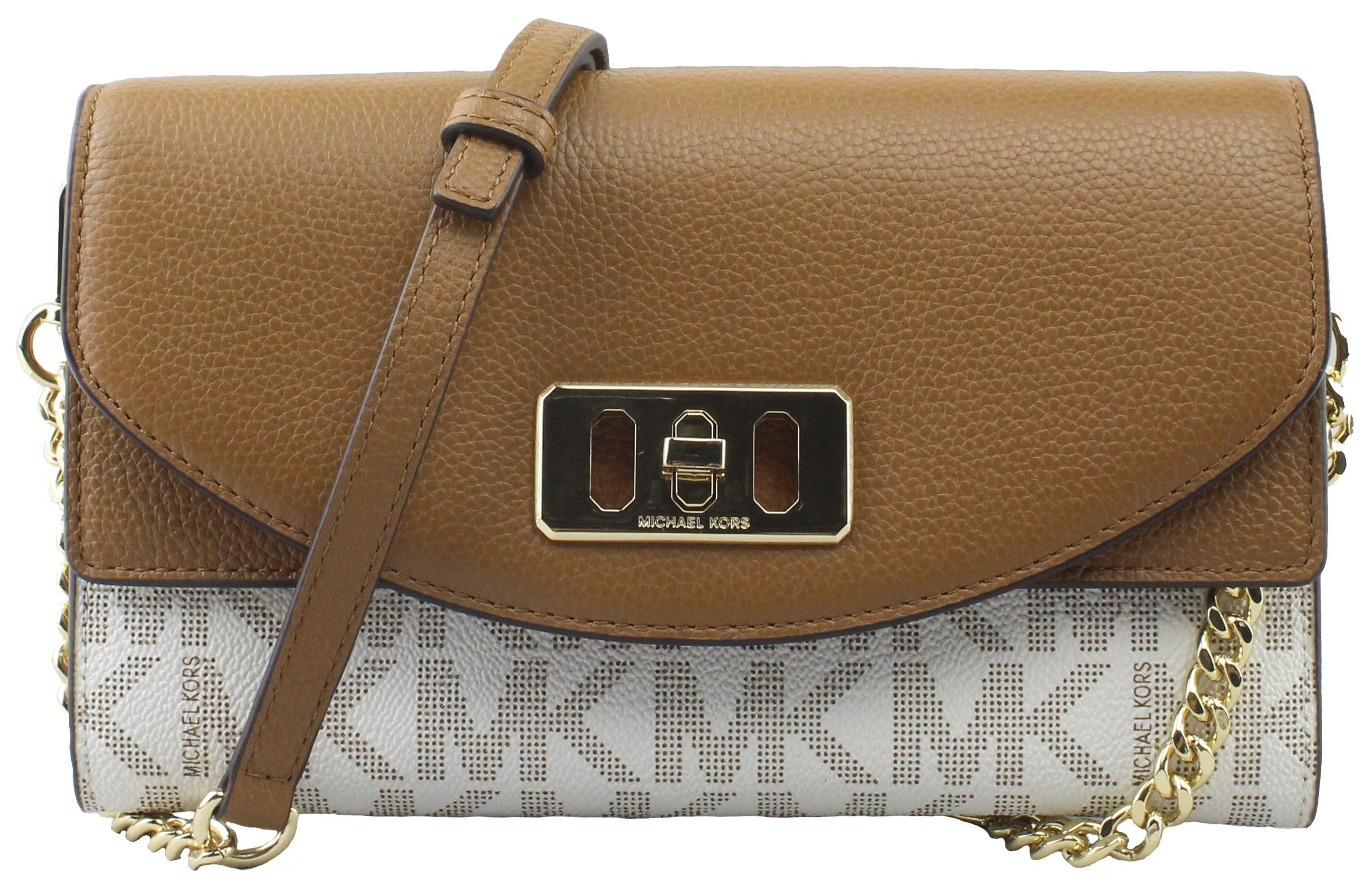 Michael Kors Karson Wallet Clutch Leather Vanilla/Acrn (35T8GKRC7B)