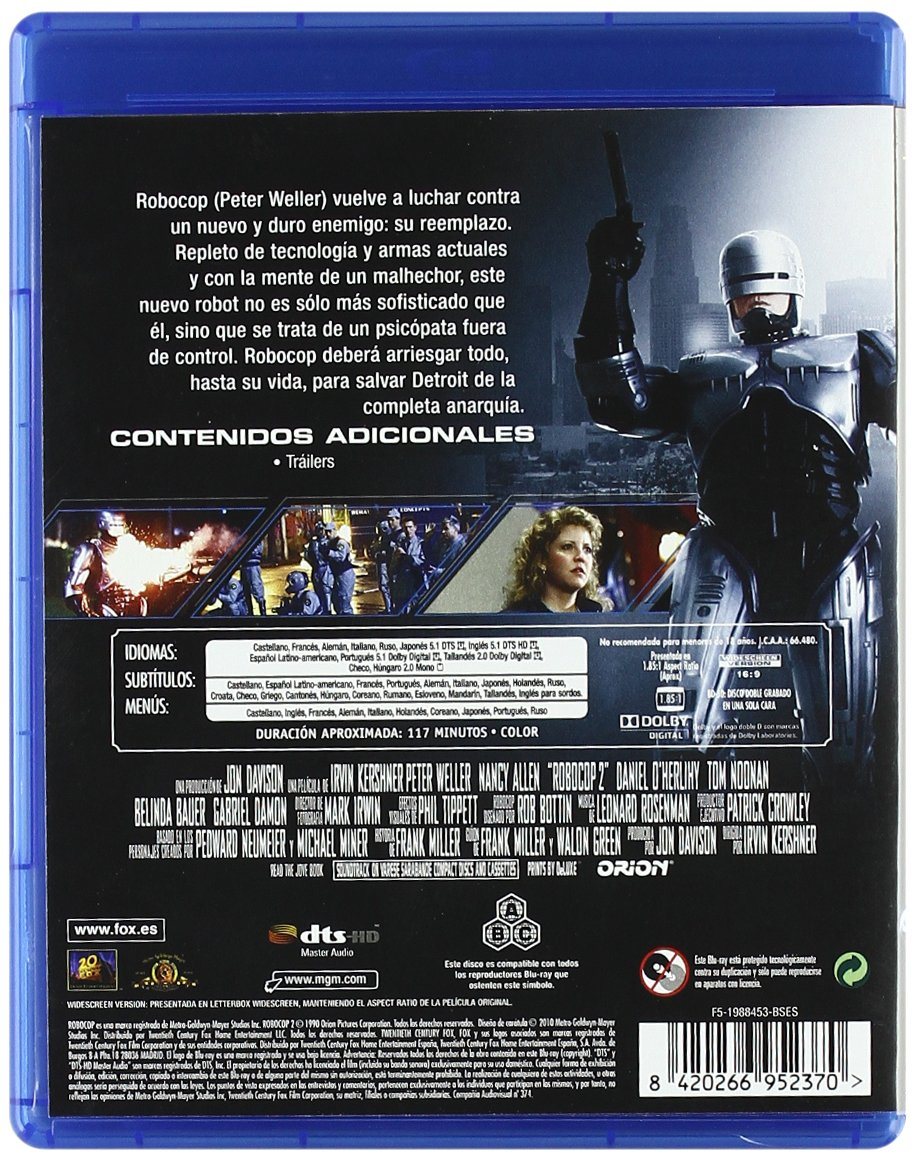 Amazon.com: Robocop 2 (Blu-Ray) (Import Movie) (European ...