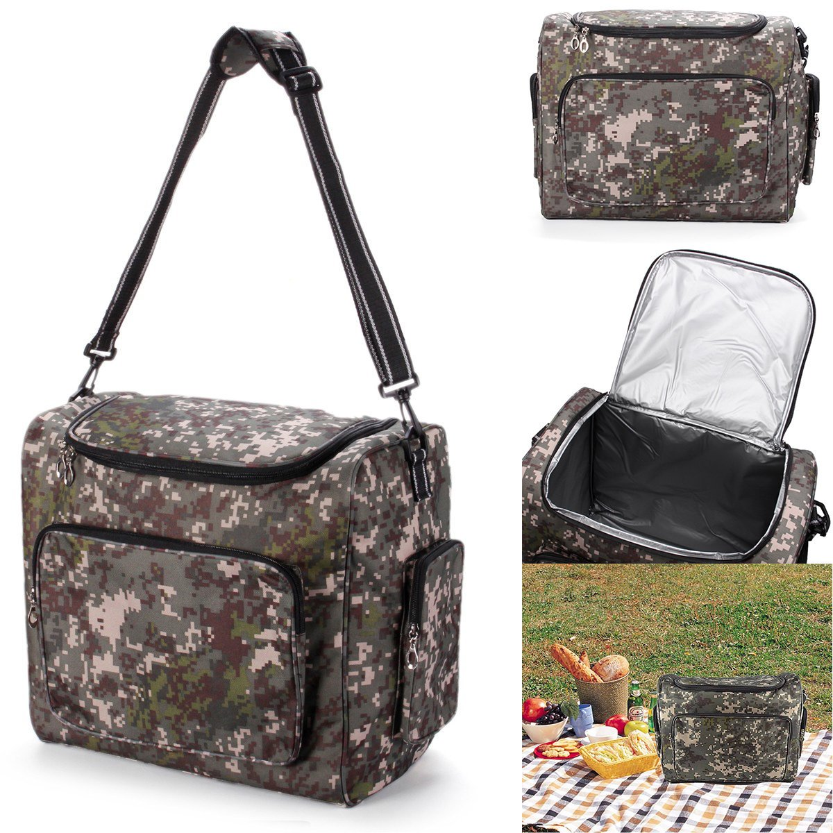 Bazaar Outdoor Insulated Cooler Bag Pack Picnic Food Lunch Storage Box Camping Hiking Travel