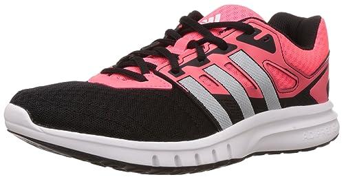 premium selection 05755 1b7bc adidas Galaxy 2 W - Zapatillas para mujer, Negro  Rosa  Plata, 38  Amazon.es Zapatos y complementos