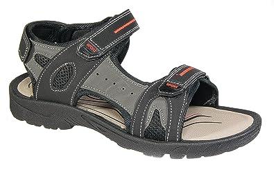 1b64715e361 PDQ Mens Walking Trek Sandals Black Grey Sports Adventure Holiday Shoes (10)