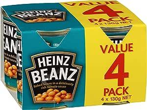 Heinz Baked Beans in Tomato Sauce, 4 x 130g