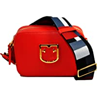 Furla Brava Ladies One Size Red Kiss Leather Crossbody Bag 1007893