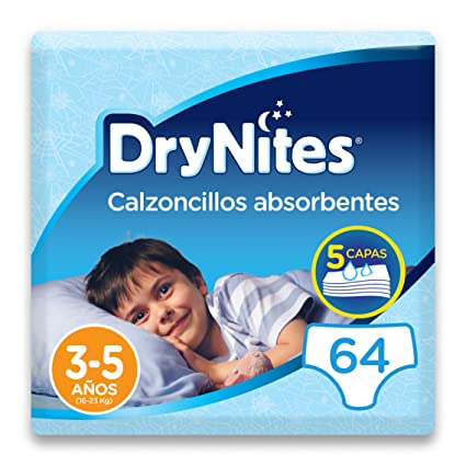 5aa418fd3425eb DryNites - Calzoncillos absorbentes para niño - 3-5 años (16-23 kg), 4  paquetes x 16 uds (64 unidades)