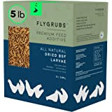 FLYGRUBS Superior to Dried Mealworms for Chickens (5 lbs) - Non-GMO - 85X More Calcium Than Meal Worms - Chicken Feed & Molti
