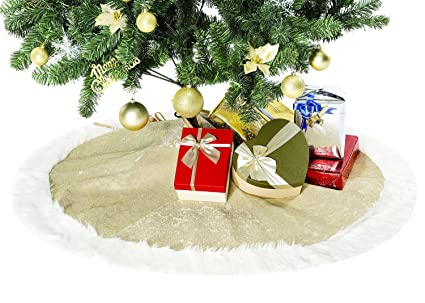 amohome 50 inches christmas tree skirt ornament holiday new year party decoration