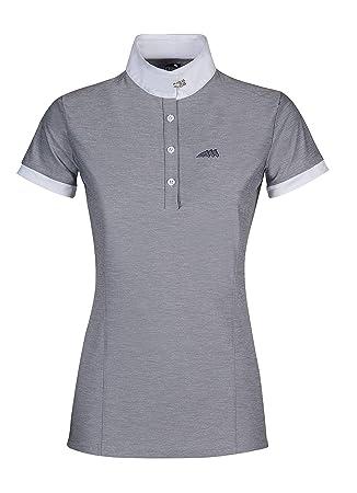 Equiline - Camiseta de competición para Mujer Allie Light Gris ...