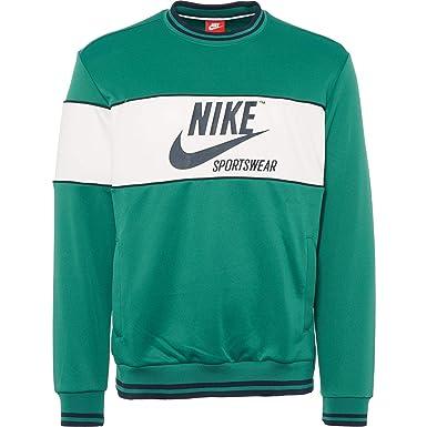 new product f8a78 9aa20 Nike Sportswear Man Sweatshirt in Green Fabric AH0715-368  Amazon.co.uk   Clothing