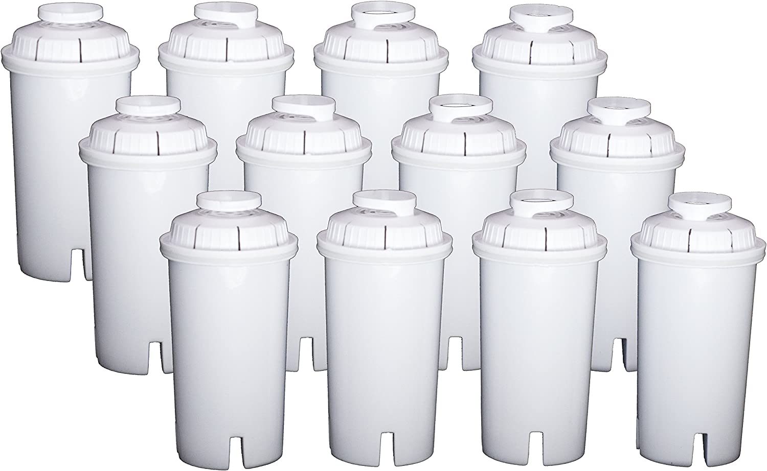 Sapphire Replacement Water Filters, for Sapphire, Brita and Pur Pitchers, 12-Pack