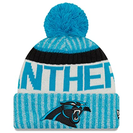 7ad2e6c8 New Era Carolina Panthers NFL Sideline On Field 2017 Sport Knit Beanie  Beany Mütze