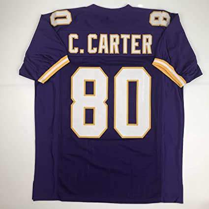 timeless design 0baea bd85f Amazon.com: Unsigned Cris Carter Minnesota Purple Custom ...