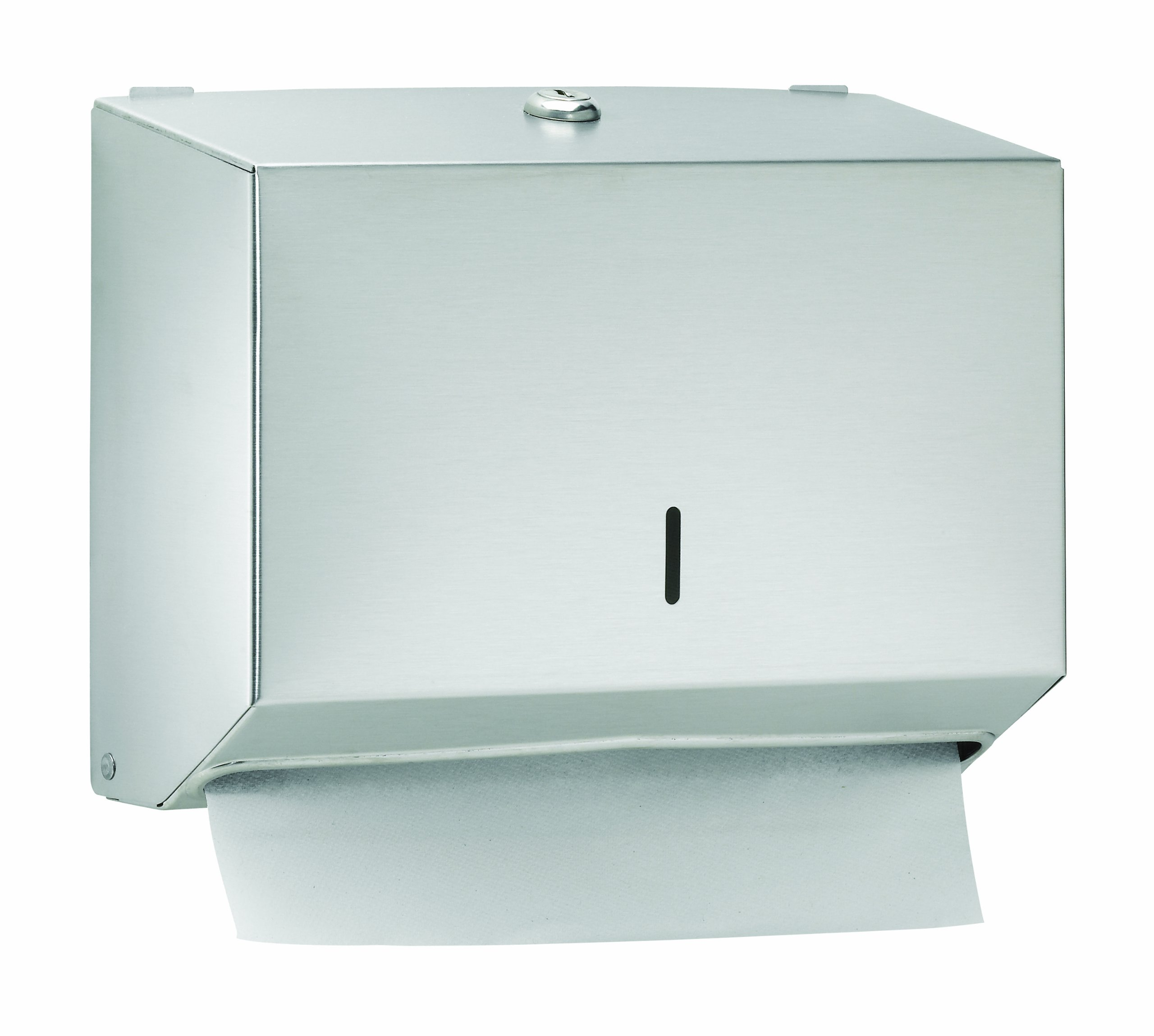 Bradley 252-000000 Stainless Steel Surface Mounted Towel Dispenser, 11'' Width x 8'' Height x 4'' Depth
