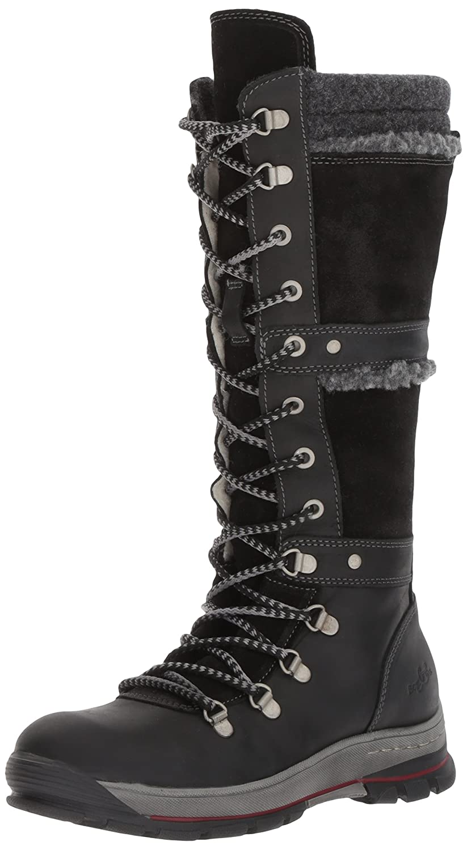 Bos. & Co.. Women's Gabriella Snow Boot B06WVZY565 37 M EU (6.5-7 US)|Black Cromagnum/Oil Suede
