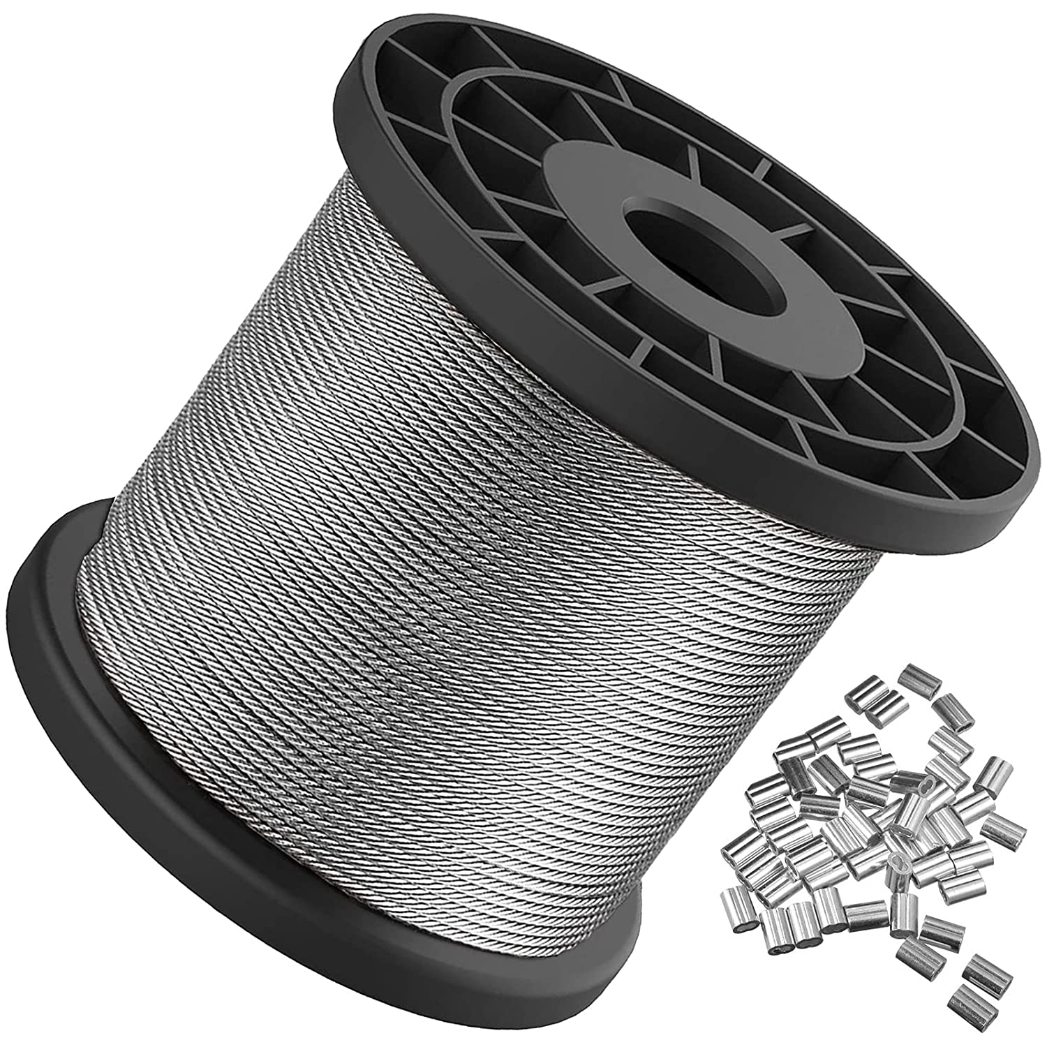 Marine Grade T316 Stainless Steel Wire Rope Cable 7x7 with 25 PCS ...
