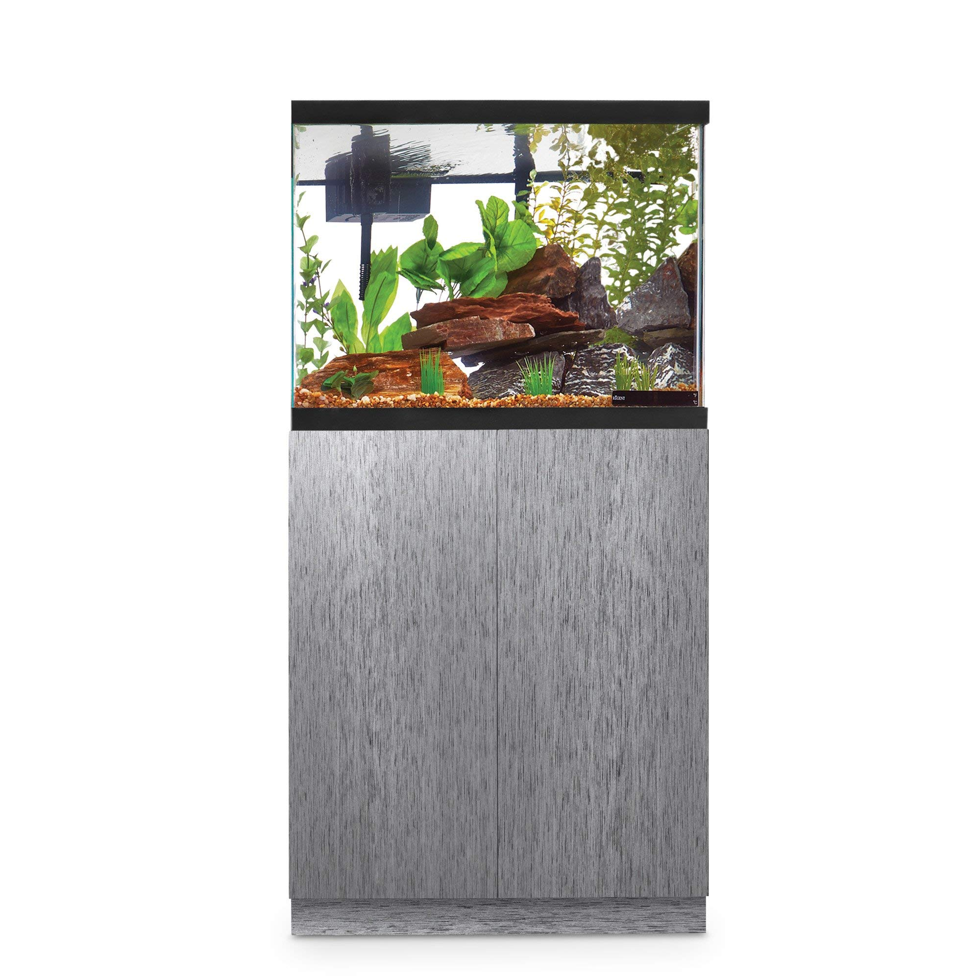 Imagitarium Brushed Steel Look Fish Tank Stand, Up to 29 Gal, 12.25 in