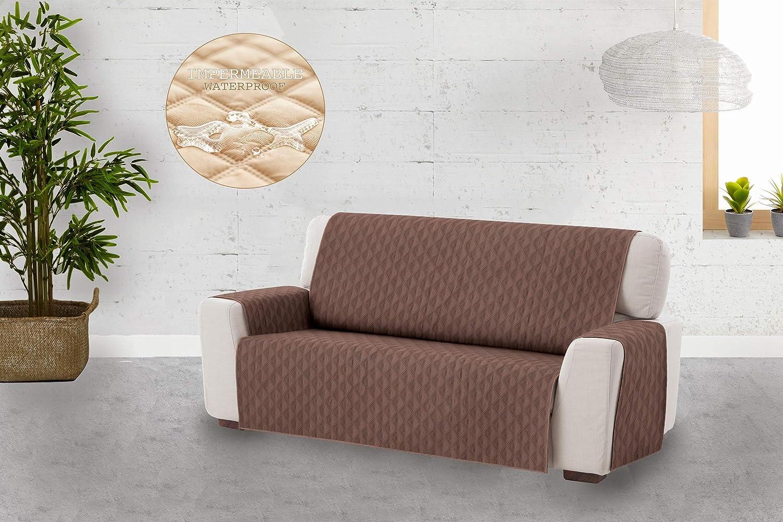 Relax Textilhome Funda Cubre Sof/á Circus -1 Plaza Protector para Sof/ás Acolchado Color Beige