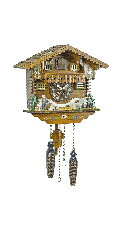 Quartz Cuckoo Clock Heidi house, handpainted, incl. batteries TU 405 Q Trenkle