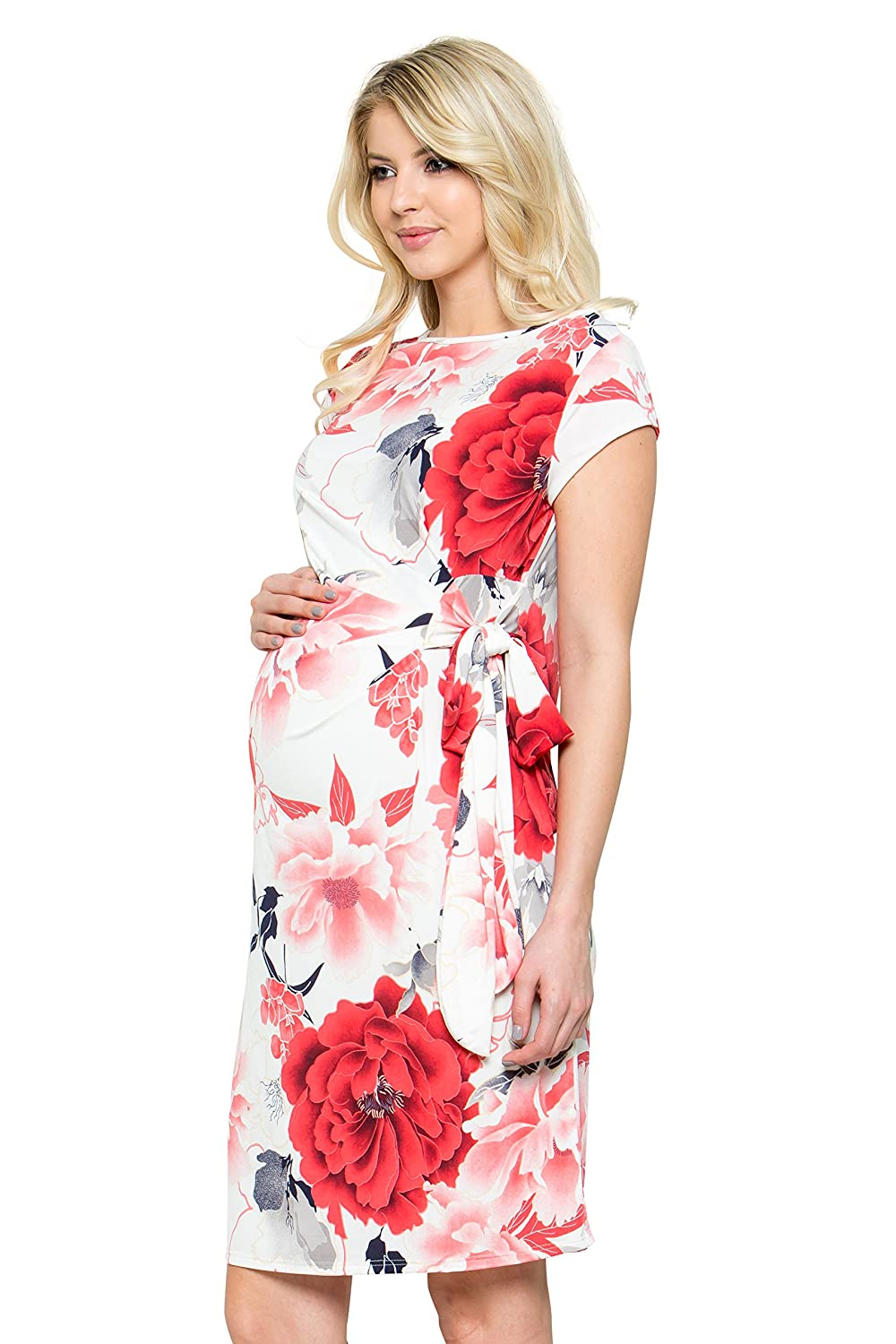 My Bump DRESS レディース B07CC4VN7R  Ivory/Red#2 Flower Large