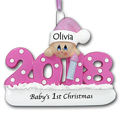 Rudolph and Me 2018 Baby's First 1st Christmas Tree Ornament Gift in Pink  for Baby Girl - Amazon.com: Rudolph And Me 2018 Baby's First 1st Christmas Tree