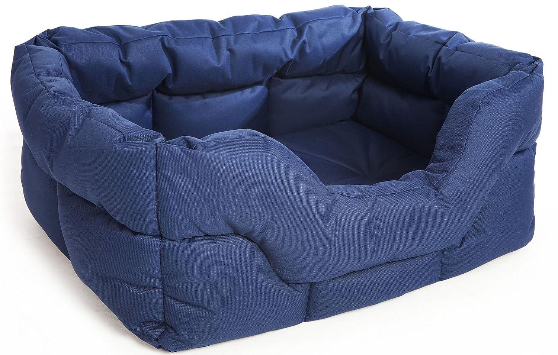 bluee Jumbo 88 x 72 x 35 cmP & L Superior Pet Beds Heavy Duty Rectangular Waterproof Softee Bed, Jumbo, 88 x 72 x 35 cm, Grey