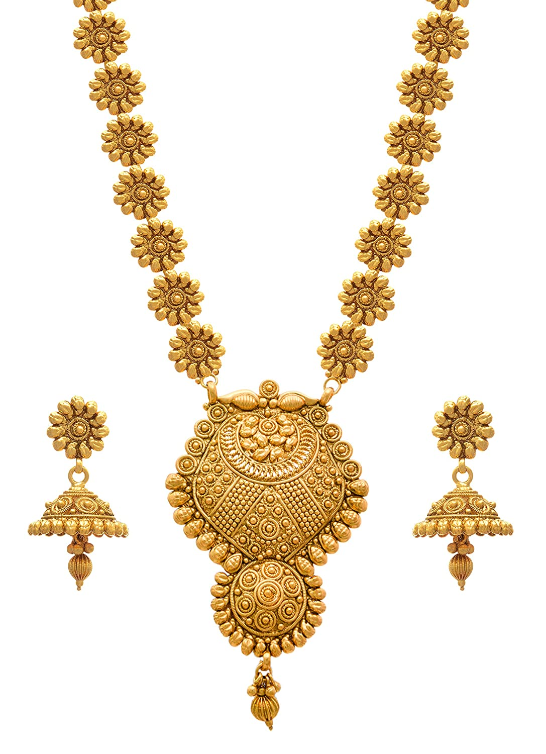 l golden products set stylish partywear necklace