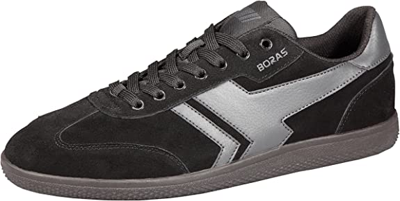 TALLA 52 EU. Boras - Zapatos de Cordones de Piel para Hombre Negro Negro