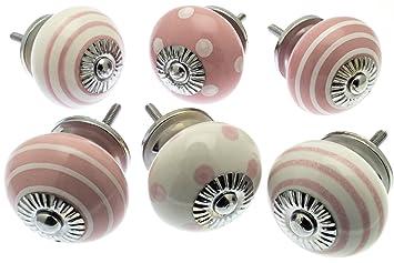 Pomelli Per Credenza Vintage : Vintage chic™ mg 257 set di pomelli misti in ceramica per