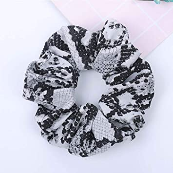 Apparel Accessories Womens Scrunchies Snake Elastic Hair Bands Ladies Stretch Ponytail Rubber Print Headband Solid Headwear Hair Accessories