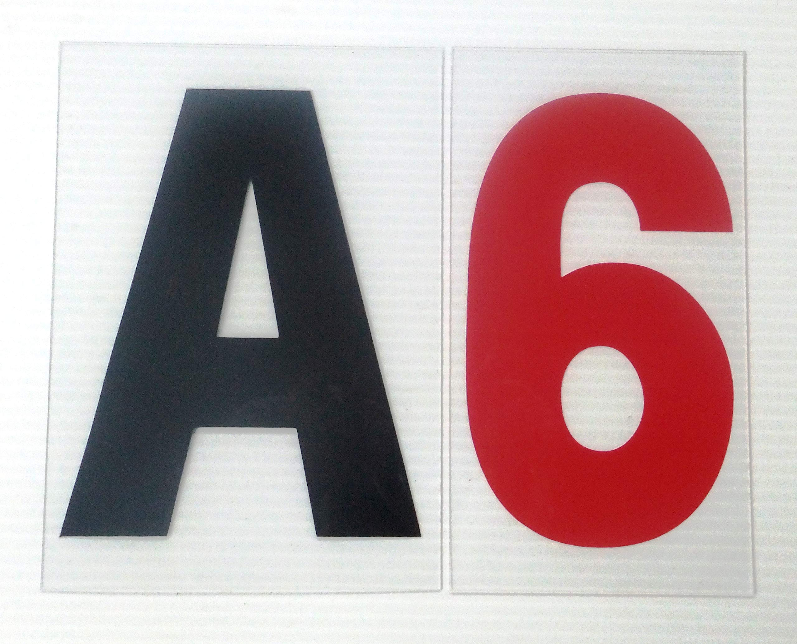 """6"""" on 7 inch Outdoor Rigid Marquee Sign Letters - 300 Count"""