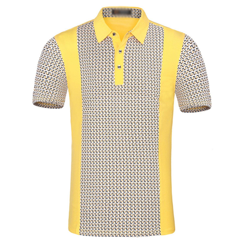 Nutsima Mens Polo Shirt Cotton Short Sleeves Famous Plaid Contrast Color Classic Polo Shirt