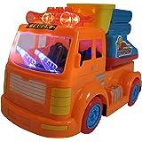 Batterie Baustellenfahrzeug mit Sound u. LED Selbstfahrend Spielzeug Feuerwehr Auto
