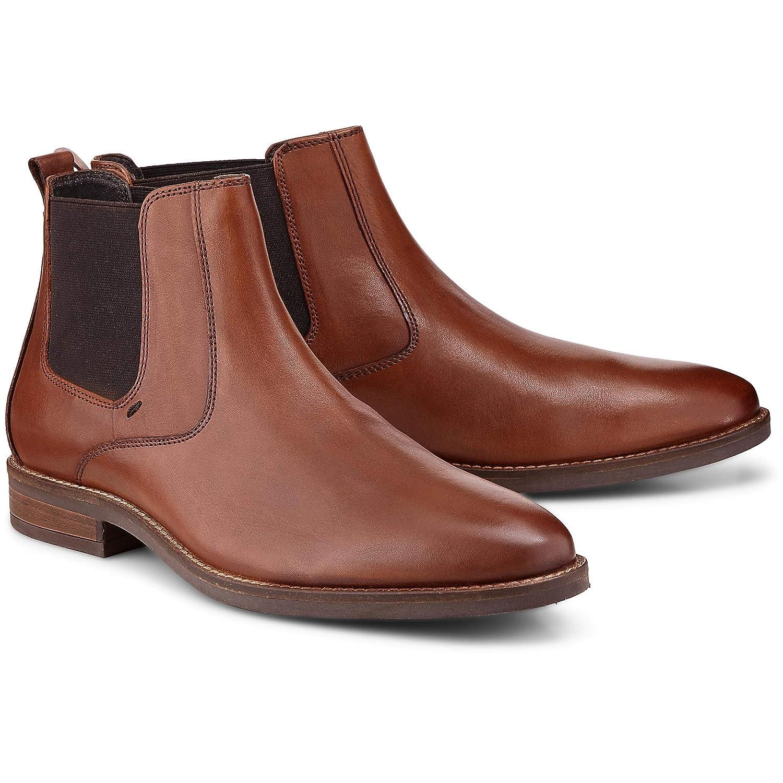 Cox Herren Elegante Chelsea-Stiefel, Elegante Herren Stiefel aus Leder in Braun mit runder Schuh-Spitze c842b6
