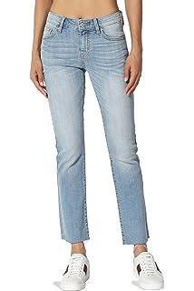 e01609836c21 TheMogan Vintage Versatile Washed Stretch Denim 32 Mid Rise Slim Boot Cut  Jeans