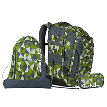 8db4a805befd9 Satch Match Green Crush Schulrucksack Set 3tlg.  Amazon.de  Koffer ...
