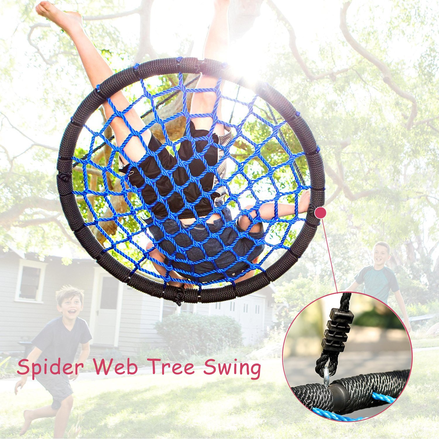 Elevens Platform Swing 30/'/'x 40/'/' Heavy Duty Playground Tree Swing with Hanging Kit and Straps for Indoor Outdoor 440 lbs Capacity SZSJZ
