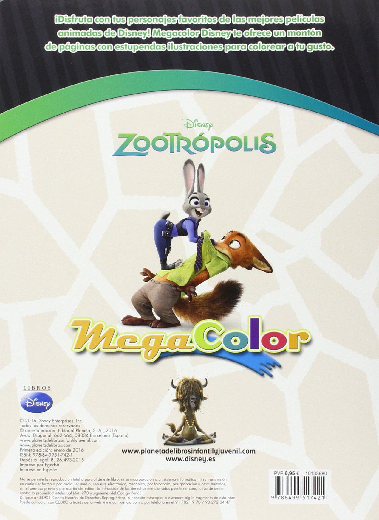 Zootrópolis. Megacolor: Disney: 9788499517421: Amazon.com: Books