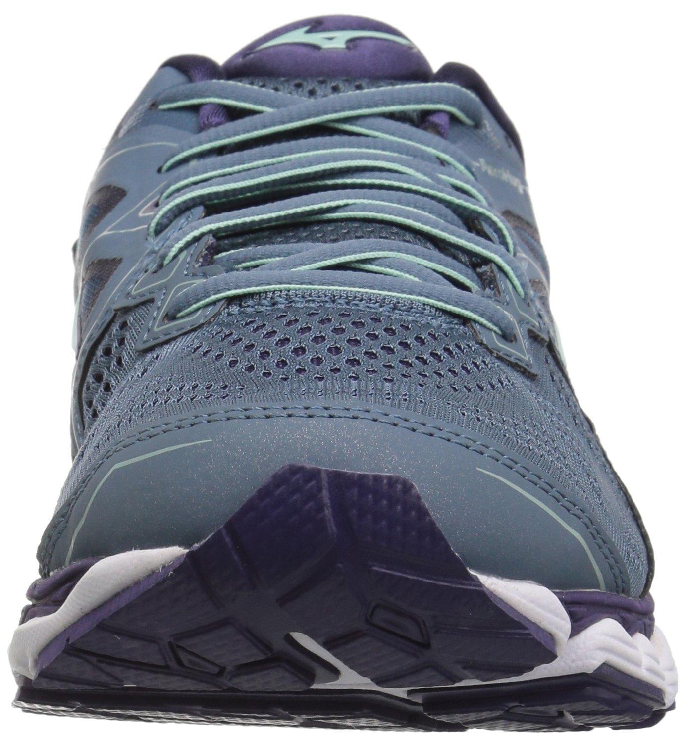 Mizuno Women's Wave Sky 2 Running Shoe B076YC2Q19 6.5 B(M) US|Blue Mirage/Purple Plumeria