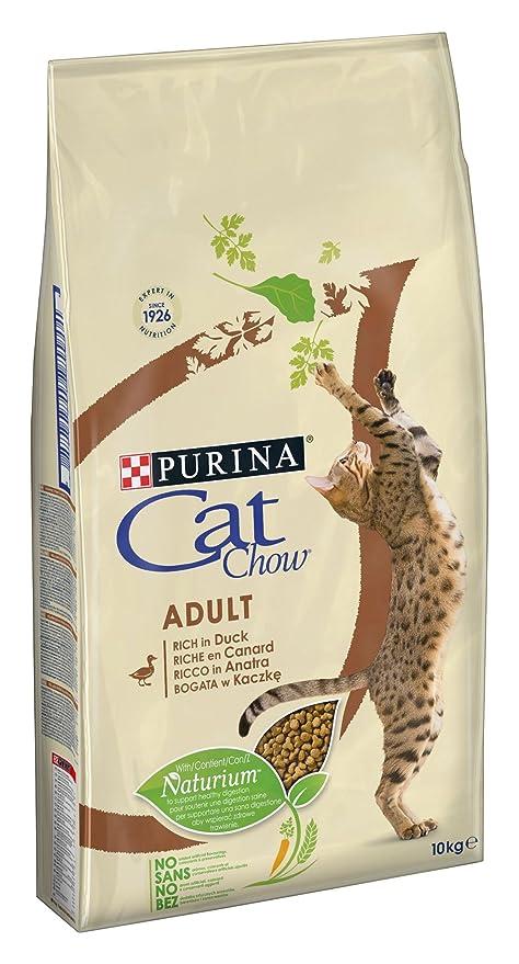 Cat Chow pienso con naturiumtm Riche de Pato para Gato Adulto 10 kg