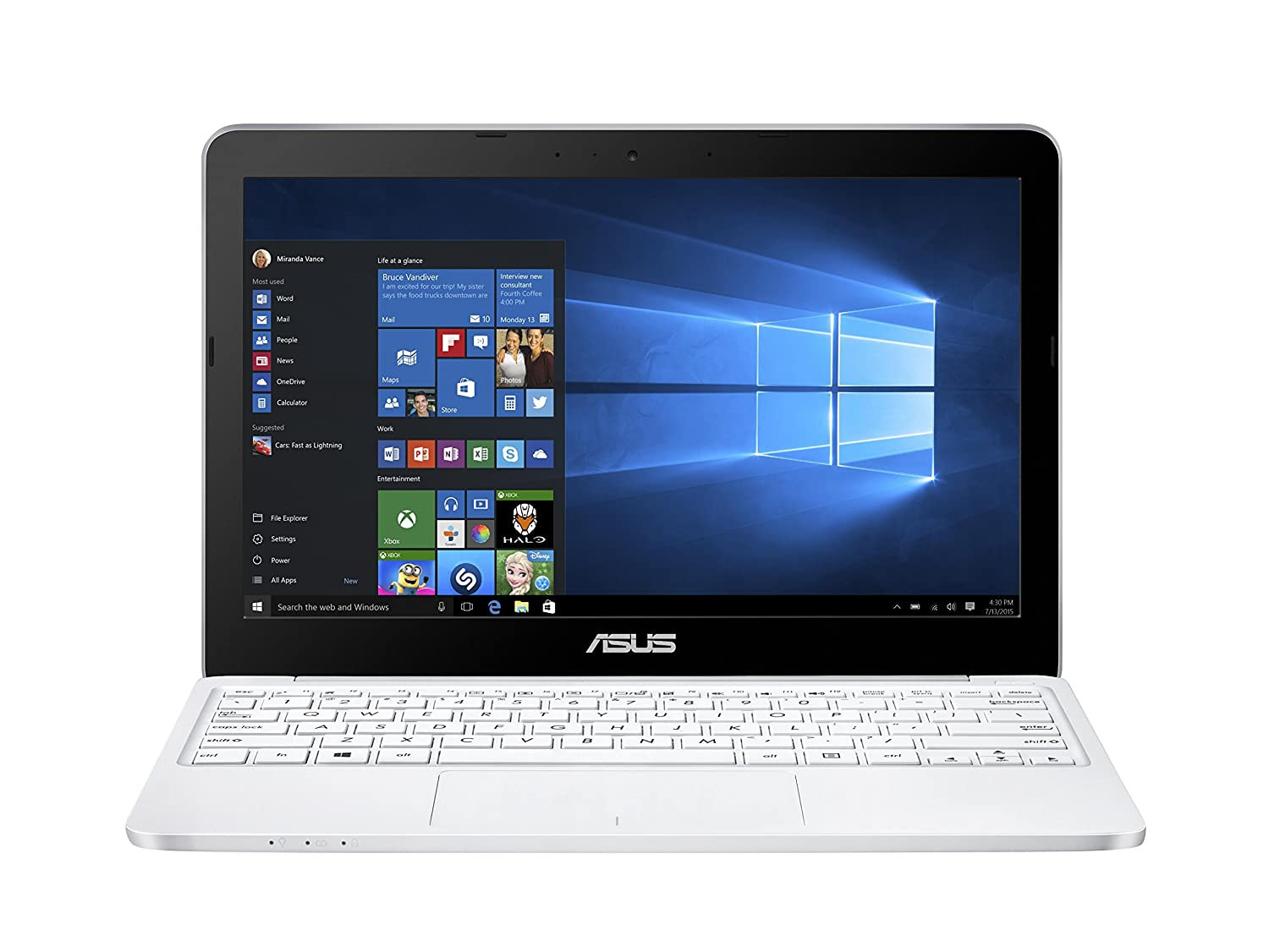 ASUS VivoBook E200H 11 6 inch HD LED Notebook with Microsoft Office 365  (Intel X5-Z8300, Integrated Graphics, 2 GB RAM, 32 GB SSD, Windows 10) -  White