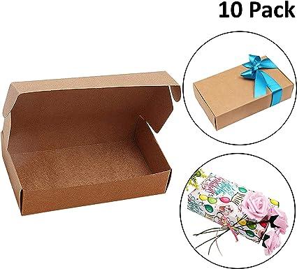 Kurtzy Kraft Papel Cajas de Regalo (Pack de 10) -19 x 11 x 4,5cm ...