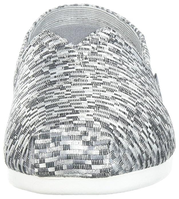 Bobs Skechers31498 Plush Gris Para Mujer Geométrico Jacquard TTrxw5dqfn