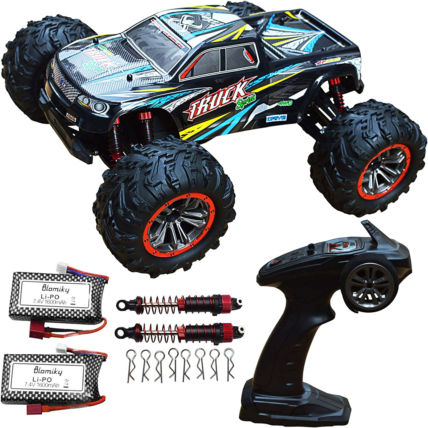 1:10 Scale High Speed 46km//h 4WD 2.4Ghz Off-Road Remote Control Truck 9125 Car