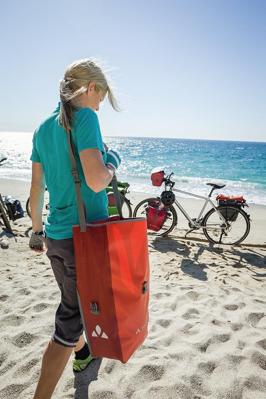 Alforjas delanteras para bicicleta 28 L 2 X 14 L Azul VAUDE Aqua Front Juego de 2 bolsas adaptables a la carga e impermeables