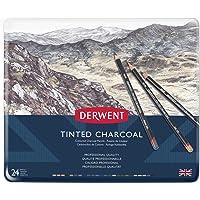 Derwent Tinted Charcoal Pencils Tin 24