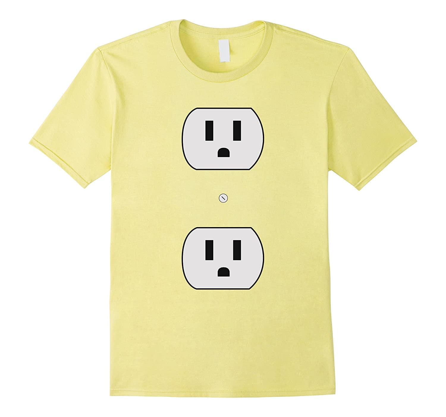 Super Simple Easy Halloween Costume - Electrical Outlet Plug-T-Shirt