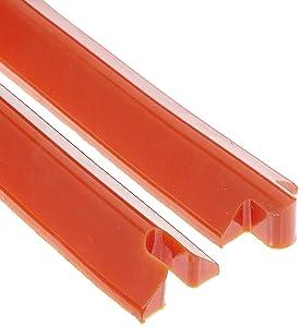 "UltraTech 2052 Polyurethane Low Profile Ultra-Spill Berm, 10' Length x 2-1/4"" Width x 1-3/8"" Height, Red"