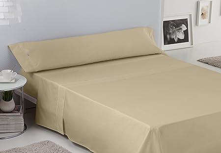 ESTELA - Juego de sábanas Lisos Cala con BIÉS Color Camel (3 Piezas) - Cama de 90 cm. - 100% Algodón - 144 Hilos: Amazon.es: Hogar