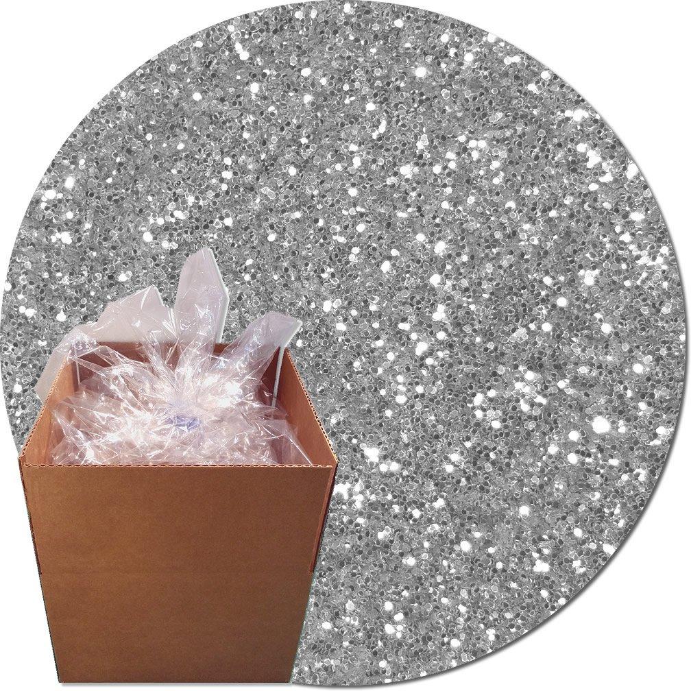 Glitter My World! Craft Glitter: 25lb Box: Sterling Silver